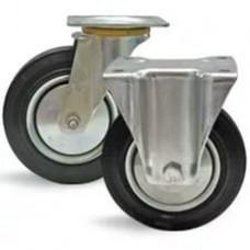 Колёса цельнорезиновые для платформенной тележки