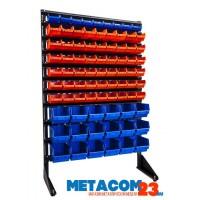 Стеллаж с пластиковыми ящиками 1501-1/6/3 K-S