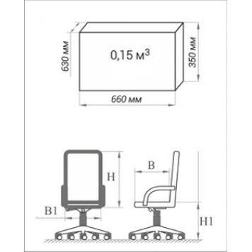 Кресло офисное для персонала AV 214  -1