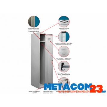 Шкаф металлический для одежды ШРС 11-300-1